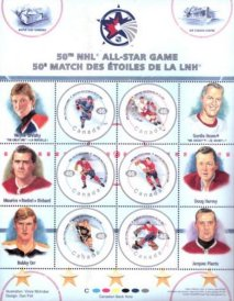 Canadian All-Star Stamps from Canada Post